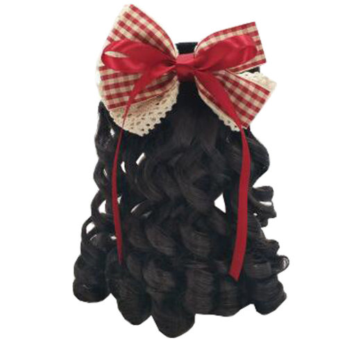 Children Girls Long Curly Wigs Hair Extensions Hair Clip Kids Wig Hairpiece, M