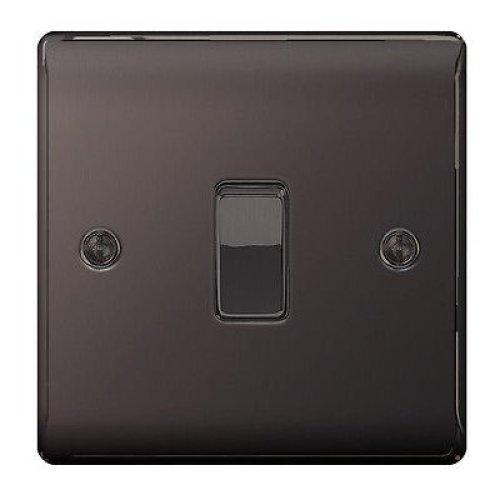 Bg Nexus Metal Black Nickel 10ax Plate 1gang