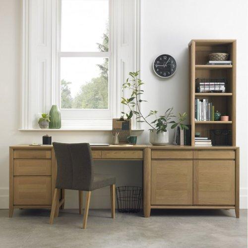 Bentley Designs Bergen Oak Office Desk Package