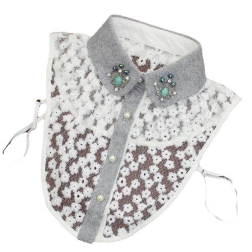 Elegant Women's Fake Half Shirt Blouse Collar Detachable Collar-A11