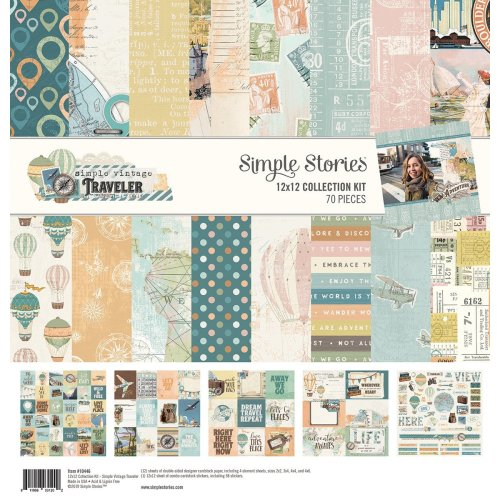 """Simple Stories Collection Kit 12""""X12""""-Simple Vintage Traveler"""