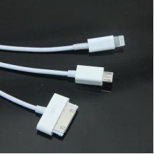 3 IN 1 8 pin & 30 pin & Micro 5 PIN combo USB Charger