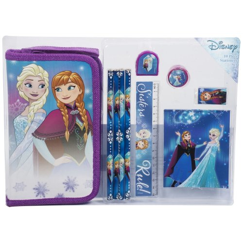Frozen 10pc Filled Pencil Case | Folding Pencil Case & Stationery