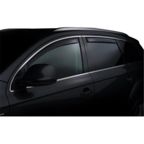 Weathertech W24-82579 Front & Rear Side Window Deflectors for 2011-2016 Volvo S60, Dark Smoke
