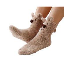 Cute Fuzzy Socks Slipper Socks Non-slip Comfortable [B]