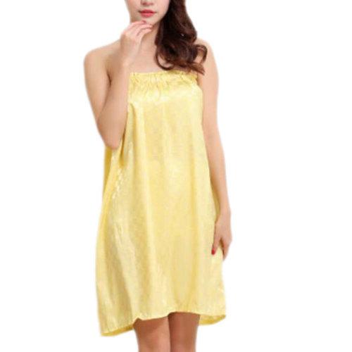 High-grade Sauna Salon Bathrobe Bath Skirt Strapless Smooth Bathing Dress-A04
