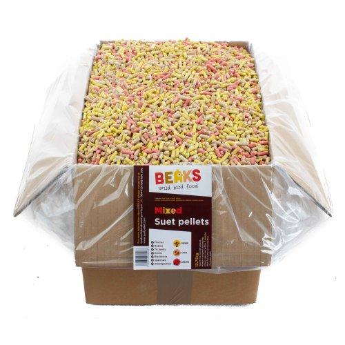 BEAKS Mixed 4 seasons suet feed pellets for wild birds 12.75kg
