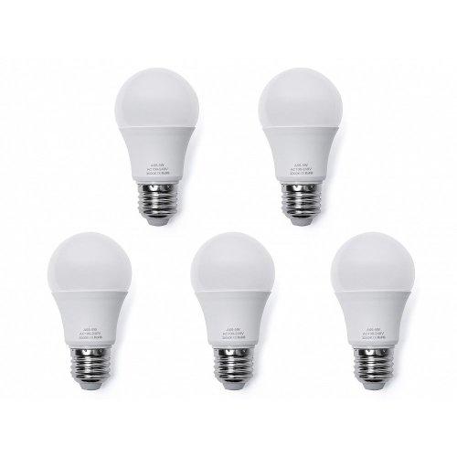5x LED Light Bulb - Low Energy - Warm White - 7W, E27, 5.5 x 10.3 cm