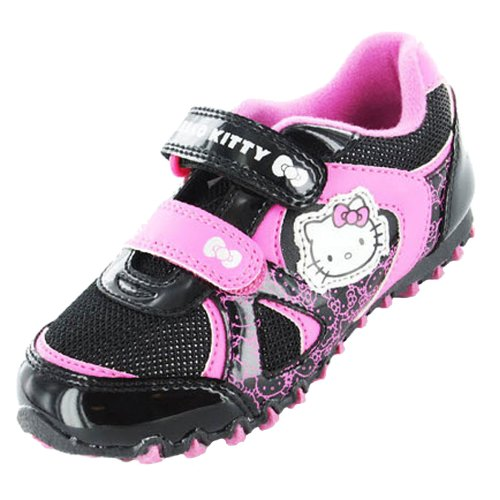 Girls Hello Kitty Cartoon Character Snowdrop Casual Trainer Shoe