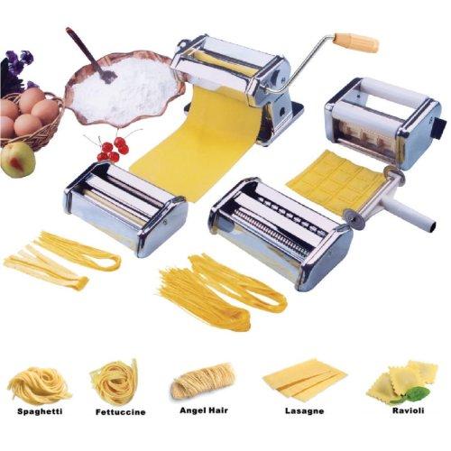 Stainless Steel Pasta Maker | 5-in-1 Pasta Machine