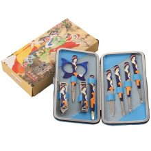 [BLUE] GOOOD 8 PCS Chinese Beauty Manicure/Pedicure Kits Nail Care Personal Set