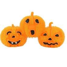 Pumpkin Ball Light Up Flashing Spiky Ball Bundle Halloween Toy and Novelty Assortment