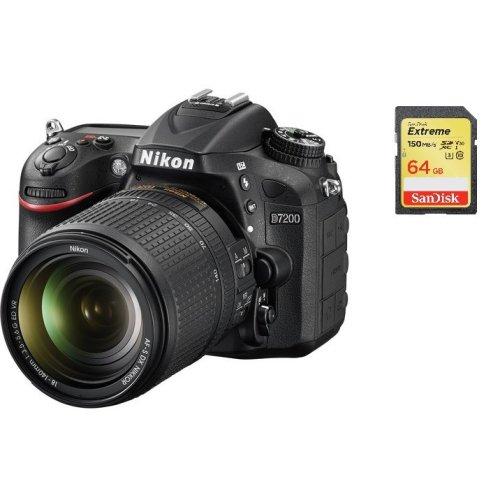 NIKON D7200+AF-S 18-140MM F3.5-5.6G ED VR DX+SanDisk Extreme 64G SD