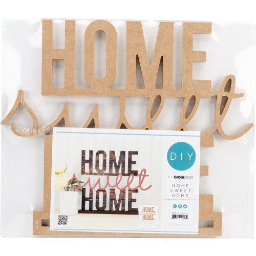 """Beyond The Page MDF Home Sweet Home Standing Words-16.25""""X12.25""""X1.5"""""""
