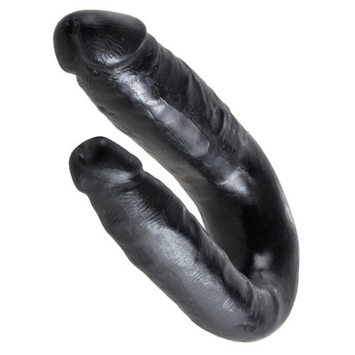 King Cock Small Double Trouble Black  Dildo Dildo Double - King Cock