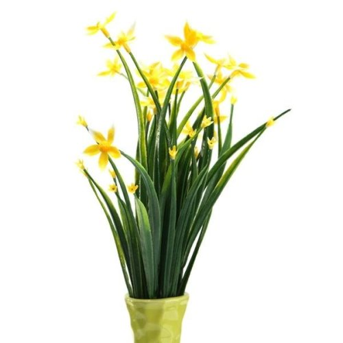 (Yellow) Artificial Lucky Star Flowers Bouquet Plants Wedding Bridal Party Home Decor 5 Colors