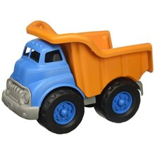 "Green Toys Dump Truck Vehicle Toy, Orange/Blue, 10""X7.5""x6.75"""