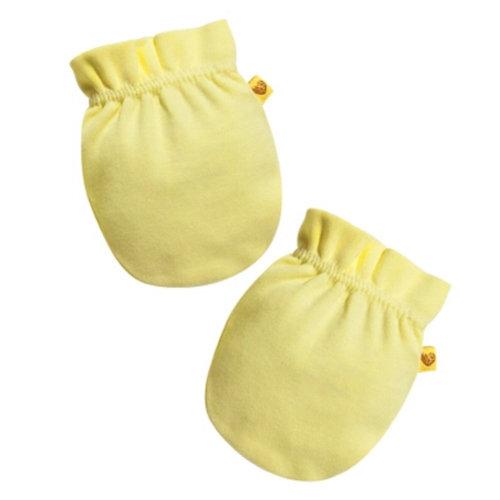 Soft Cotton Baby Gloves Newborn Mittens No Scratch Mittens,  Yellow