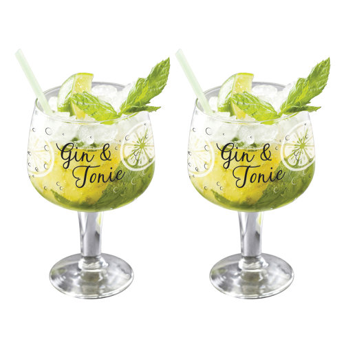 Gin and Tonic Set of 2 Gin Glasses