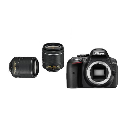 Nikon D5300 Camera, 18-55mm VR & 55-200mm VR II Lens Bundle