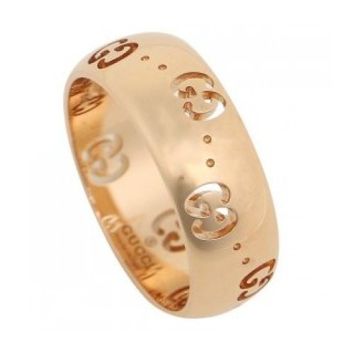 GUCCI RING ICON BOLD 18KT ROSE GOLD size 13 246470 J8500 5702