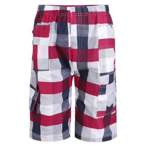 Boys Checked Print Shorts