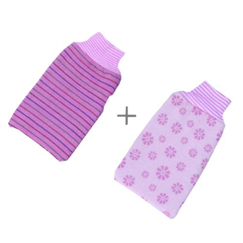 Rubbing Towel Strong Rubbing Mud Adult Thickened Double Rubbing Gloves?Purple?