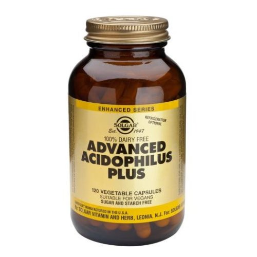 Solgar Advanced Acidophilus Plus (Non-Dairy) Vegetable Capsules, 120