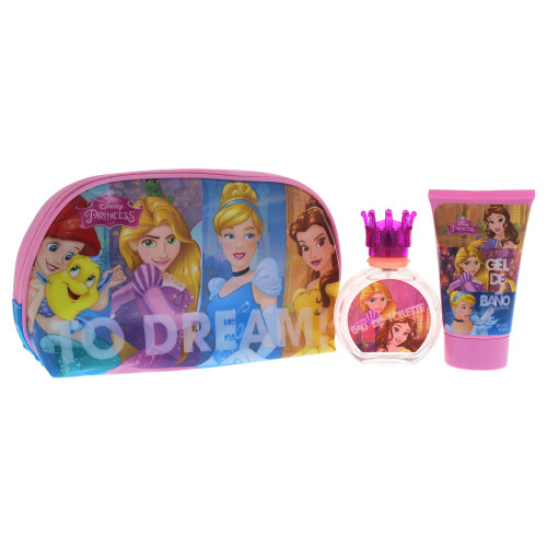 Disney Disney Princess - 3 Pc Gift Set 1.7oz EDT Spray, 3.4oz Shower Gel, Toiletry Bag
