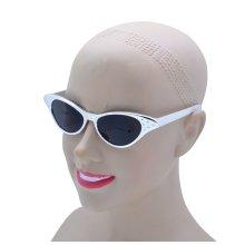 50's Silver Metallic Cateye Sunglasses -  fancy dress metallic 1950s sunglasses silver accessory gold sunflasses FANCY DRESS GLASSES SUNGLASSES