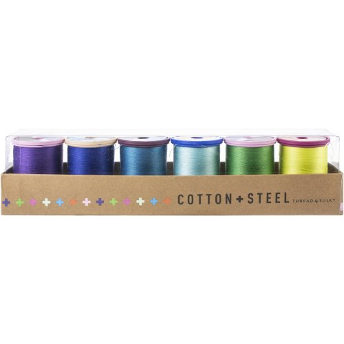 Sulky Cotton & Steel Thread Collection 50Wt 660Yd 6/Pkg-Pool