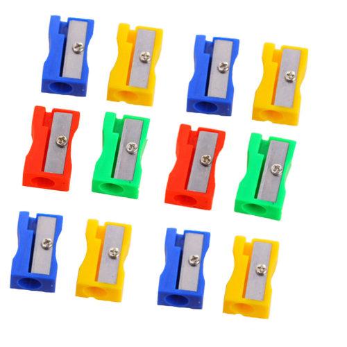 Pack of 33-School Smart Hand Held Plastic Pencil Sharpener-Assorted Colors