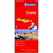Crete NATIONAL Map (Michelin National Maps)