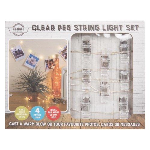 LED Peg String Light Set