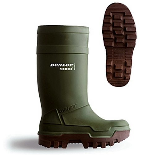 Dunlop C66293305 Purofort Thermo Safety Green Wellingtons Size 5