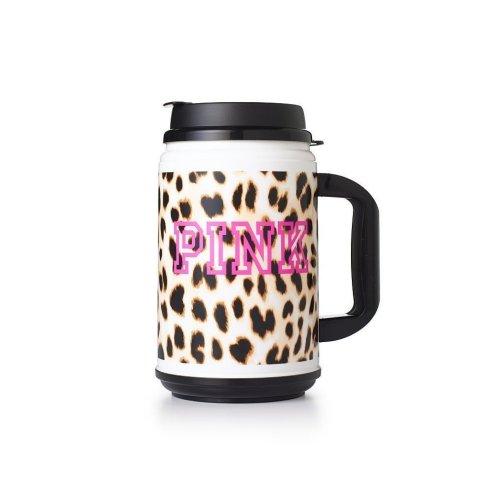 Victoria's Secret Pink Limited Edition Cheetah Print Large Chug Drinking Mug