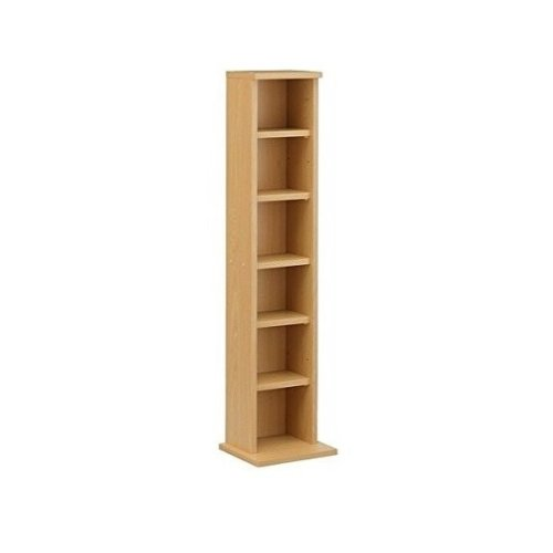 Homcom Dvd Cd Storage Shelf Media Unit 6 Shelves Bookcase Unit Beech