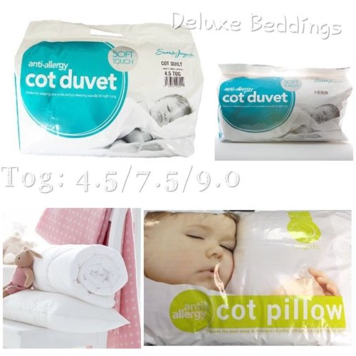 Anti-Allergy Toddler Baby Cot Bed Duvet/Quilt/Pillow_Tog 4.5, 7.5 and 9