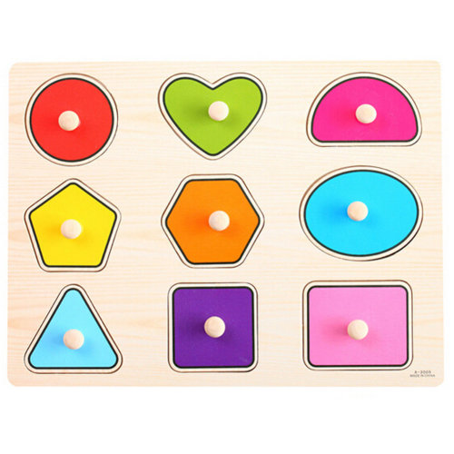 Kids Playschool Preschool Puzzled Educational Toy Wooden Puzzle,Graphics