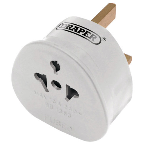 Tourist To Uk Travel Adaptor - Draper Plug Ukireland 26447 -  draper plug adaptor ukireland 26447