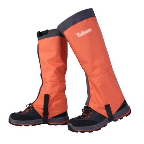 Hiking/Climbing/Camping/Skiing Upgraded Shoes Gaiter For Adult- Orange