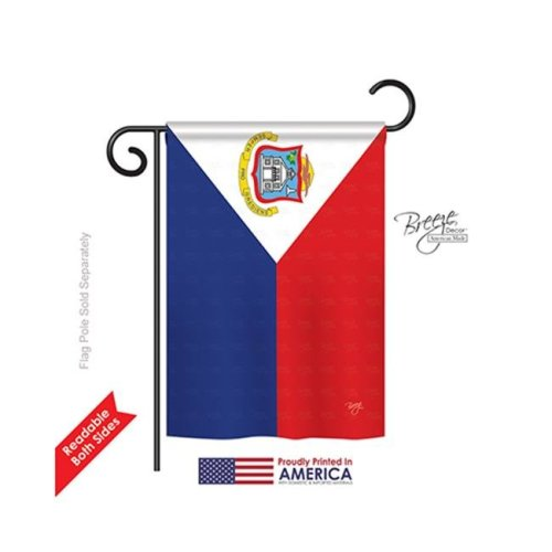 Breeze Decor 58348 Saint Marteen 2-Sided Impression Garden Flag - 13 x 18.5 in.