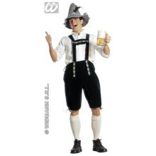Medium Adult's Bavarian Man Costume -  oktoberfest costume mens bavarian beer lederhosen fancy dress german festival