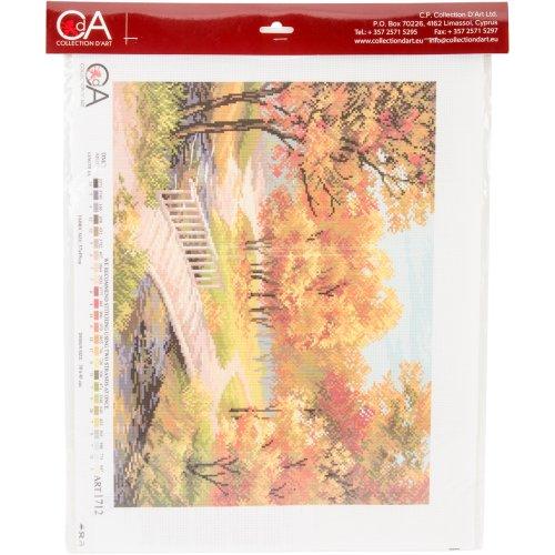 Collection D'art Stamped Cross Stitch Kit 37X49cm-Autumn Landscape