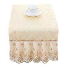 [Beige] Beautiful Microwave Oven Dustproof Cover Dust Cover Cloths