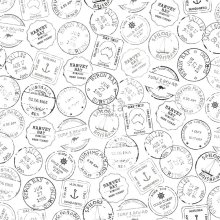 wallpaper post stamps surfing black and white - 138981