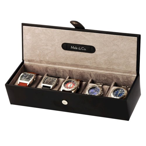 Mele and Co Bonded Leather Five Watch Box
