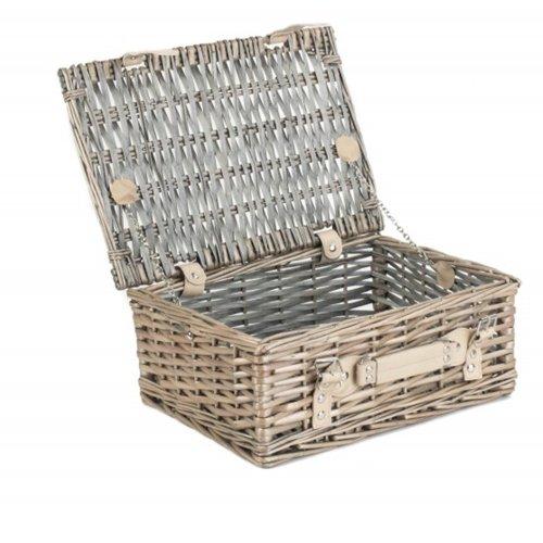 35cm Antique Wash Split Willow Wicker Basket