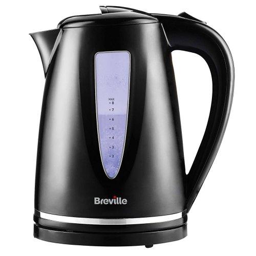 Breville Style Jug Tea Kettle 1.7 Litre Illuminated Water Window - VKJ897, Black