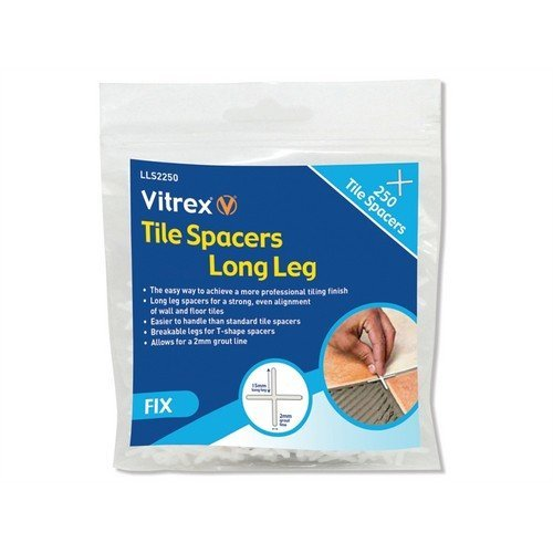 Vitrex LLS2250 Long Leg Spacer 2mm Pack of 250